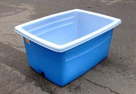 アロン化成 大型容器AK AK350 ブルー 350L 排水栓付 農薬調合 角桶 角型容器