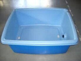アロン化成 大型容器AK AK450 ブルー 450L 排水栓付 農薬調合 角桶 角型容器