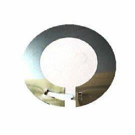 ステンレスSUS430煙突マルタ爪付きリングメガネ板(2枚)φ106mm(φ100mm)厚み0.3mm