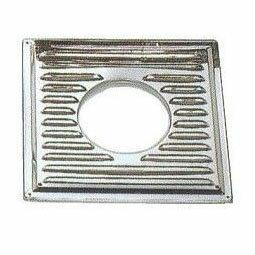 ステンレスガラリ付き眼鏡板(平)φ106mm(φ120mm)2枚1組