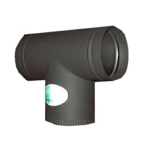 ステンレス黒耐熱煙突T傘φ106mm厚み0.3mm