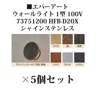 *5 [Takasho exterior gardening DIY waterfall store] wall light 100V ever Art Wall light type 1 100V (73751200 HFB-D20X shine stainless steel)