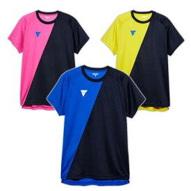 VICTAS ヴィクタス aog0122 ゲームシャツ V-TS908 卓球 ウェア 卓球ウェア メンズ レディース 半袖 キッズ ジュニア 小学生 中学生 高校生 大学生 部活 トップス 男性 女性 男女兼用 かわいい かっこいい スポーツウェア