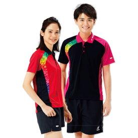 卓球 ウェア Nittaku ニッタク adg0185 ブメランシャツ 卓球ウェア レディース 半袖 キッズ ジュニア 小学生 中学生 高校生 大学生 部活 トップス 女性 かわいい かっこいい スポーツウェア
