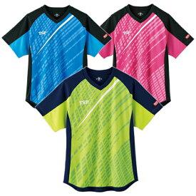 TSP ティーエスピー abg0177 デルニエシャツ 卓球 ユニフォーム tsp メンズ レディース 半袖 キッズ ジュニア ゲームシャツ