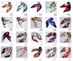 最短で翌日お届け人気なシルク調60角スカーフ企業制服スカーフspringscarf/ヘアバンドとしてもカバンの飾りとしてもお勧め。