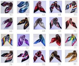 最短で翌日お届け 人気シルク調60角スカーフ 企業制服スカーフ spring scarf /ヘアバンドとしてもカバンの飾りとしてもお勧め。(柄:61〜80)