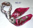 【全色60種】 華麗な高級シルク調スカーフ 90角正方形大判レディース スカーフ 贈り物 ギフト人気な花柄 スカーフ(N…