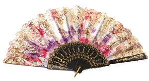 女性用扇子・踊り道具・装飾せんす ドン・キホーテやスペインの踊り、キトリに 憧れのバレリーナ バレエ用 レース扇子 練習用 バレエ用品 アクセサリー扇子
