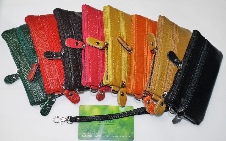 大人気 本革 コインケース (全8色) 小銭入れ 多用ポーチ カードケース  財布・ウォレット