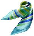 かわいいシルク調スカーフ 中判 60cm正方形スカーフリボン 事務服 企業制服スカーフ 鮮やかで顔まわり華やかUP 手首に、デニムに、バッグに、無限に使える人気...
