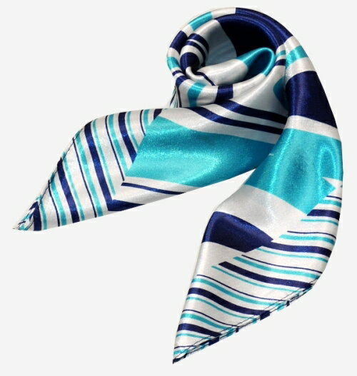 かわいいシルク調スカーフ 中判 60cm正方形スカーフリボン 事務服 企業制服スカーフ 鮮やかで顔まわり華やかUP 手首に、デニムに、バッグに、無限に使える人気柄スカーフ激安