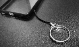 スマホ リング ストラップ スマホストラップ スマホリング 指輪 タングステン シルバー ブランド 星 キラキラ ストーン クリア シンプル キーホルダー ケース ネック x ストラップ 首かけ カバー ポーチ落下防止