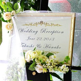 歡迎板數量 A3,OA 大小白色 / 金、 白色和銀色的圖片框架歡迎牌新娘婚禮板 10P05Sep15