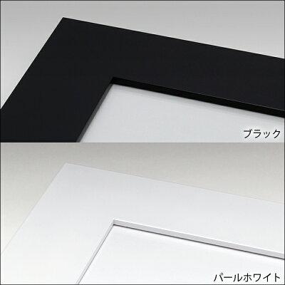 シンプルなデザインの色紙額【4833】ホワイトとブラックの2色色紙用額縁