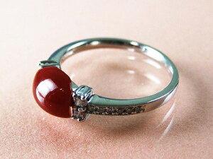 血赤珊瑚 指輪 ぷちダイヤモンド付プラチナのリング (のし等ギフト対応無料) 縦約6.4ミリ×横8.1ミリの高知県産血赤珊瑚のトップ 無染色さんご 12号(9-15号は無料サイズ直し)サンゴ さんご Pt9