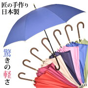シルキータイプ細身長傘婦人用8本骨傘袋付日本製全7色親骨60cm