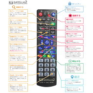 検索・お気に入り番組・録画に最適なサテラ2のリモコン