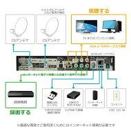 サテラ2(satella2)を接続方法|パソコンやハードディスク、ネットワークを使い録画!