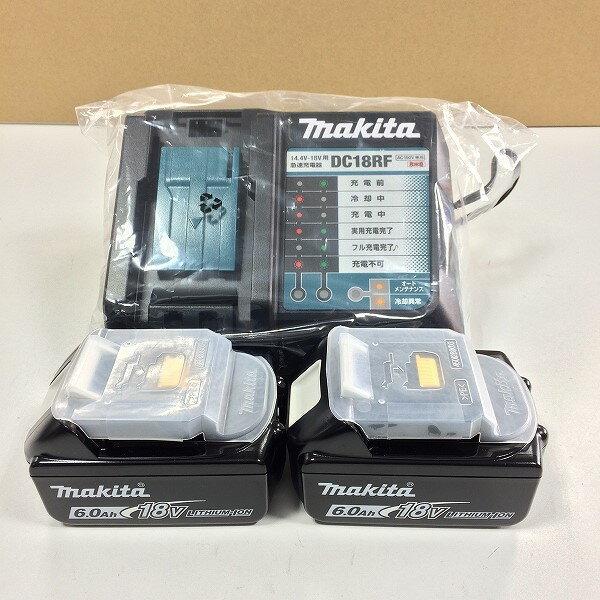 ★最新型 純正セット■マキタ 18V6.0Ah リチウムイオン バッテリー BL1860B 雪マーク付 2個+充電器 DC18RF ★新品