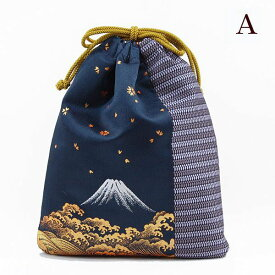 巾着 信玄袋 モダン お祭り 花火大会 父の日 敬老の日 富士山、お正月、秋祭り、夏祭り 西陣織【ゆうパケット可】