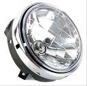 送料無料 ホンダ バイク 丸型 汎用 黒 ブラック ヘッドライト 大型 マルチ リフレクター