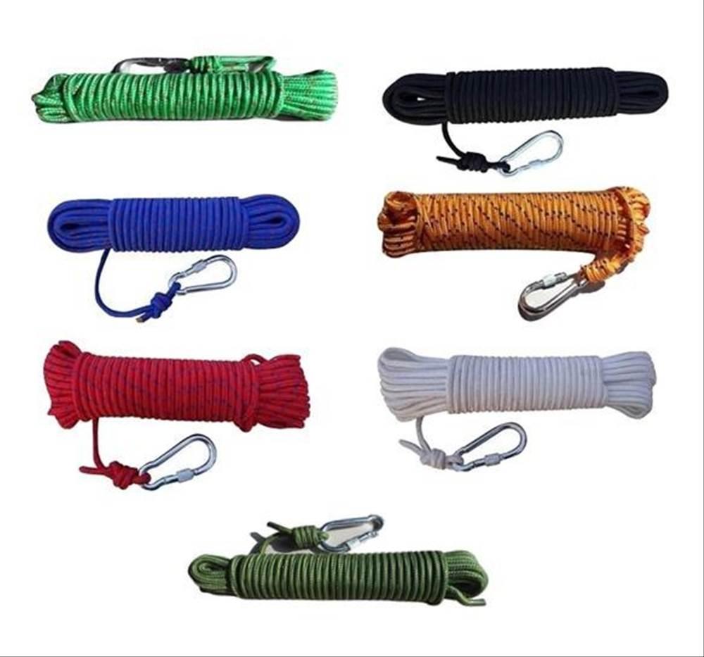 送料無料 クライミング ロープ 8mm 20m ザイル ガイ ロープ 登山 キャンプ アウトドア