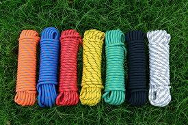 送料無料 クライミング ロープ 10mm 10m ザイル ガイ ロープ 登山 キャンプ アウトドア (画像は色見本です)
