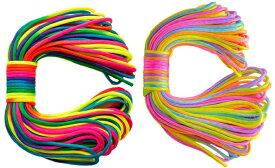 ◆ 虹色 七色 レインボー パラコード 4mm 30m カラフル きれい な ひも テント ロープ ガイ ロープ 7芯 耐荷重 250kg キャンプ アウトドア サバイバル キーホルダー ブレスレット ペット の 首輪 に 送料無料 ◆