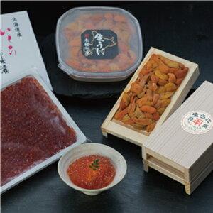 【ウニとイクラの食べ比べ!】塩水うに100g&生うに折100g×2折&いくら醤油漬け500g