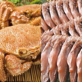 毛蟹・ししゃもセット ボイル毛蟹2尾で800g前後・ししゃもメス10尾