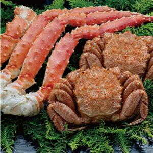 【蟹のゴールデンコンビ!】ボイル毛ガニ500g×2尾&タラバカニ脚600g