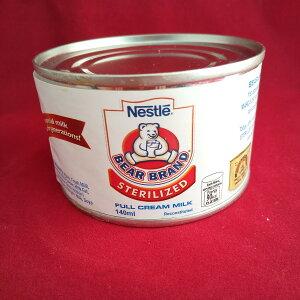 タイ産 ネスレ 滅菌牛乳 Sterilized Milk Bear Brand 140g×96缶 ケース売り お菓子作り 製菓材料 製パン材料