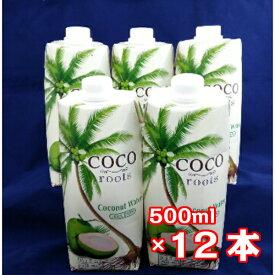 ココナッツ ウォーター 500ml×12本(1ケース)ヤシの実 ココナツ 椰子の実 ココヤシ Coconut 業務用 量販 業販 卸 お徳用 大量 ケース売り loots ベトナム 水分補給 ミネラル 無添加