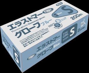 ◇高嶋金物店◇フジ エラストマーグローブ ブルー・半透明 200枚入 S・M・L