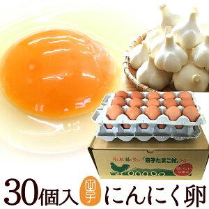 卵 新鮮たまご にんにく卵 30個入(生卵25個+破損保証5個) ギフト 甘く生臭さニンニク臭無し 青森の特産にんにくを食べて育った純国産鶏が産む健康タマゴ スタミナ 肉体改造 免疫力 筋トレ ダ