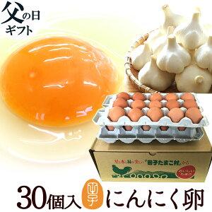 父の日遅れてごめんね ギフト 送料無料 プレゼント 送料無料 にんにく卵 30個入(生卵25個+破損保証5個) 甘く生臭さニンニク臭無し 食べ物 実用的