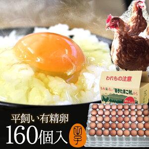 有精卵 160個入(生卵128個+破損保証32個) ギフト 送料無料 飲んでも美味しい!甘く濃厚 生臭さ無し 平飼いでストレスなくのびのび育った純国産鶏産む健康タマゴ 肉体改造 免疫力 生卵を飲む方