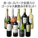 【送料無料】ワインセット ボルドーもカヴァも入ったゴージャス家飲み9本セット 赤ワイン 白ワイン スパークリング 全部入り お家で毎日ワイン三昧第3弾