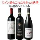 【送料無料】ワインセット 厳選 赤ワイン 3本 セット ブルゴーニュ ボルドー スペイン ワイン通の方もきっと納得赤 第17弾