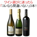 【送料無料】ワインセット 迷ったらこれ お歳暮 誕生日 ギフト プレゼント 赤ワイン 白ワイン スパークリング ワイン 3本 セット イタリア チリ スペイン 第52弾