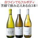 【送料無料】ワインセット 芳醇フルボディ 白ワイン 3本セット 辛口 シャルドネ ラングドック チリ 第14弾