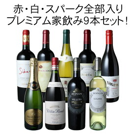 【送料無料】ワインセット プレミアム 家飲み ワイン 9本 セット 赤ワイン 白ワイン スパークリングワイン 飲み比べ パーティー お中元