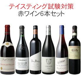【送料無料】ワインセット ソムリエ&ワインエキスパート試験対策にもなる! 品種別 飲み比べ 6本 セット 赤ワイン テイスティング 二次試験対策 第2弾
