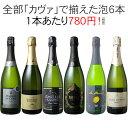 【ポイント10倍】【送料無料】ワインセット カヴァ 6本 セット 辛口 シャンパン製法 瓶内二次発酵 スパークリングワイ…