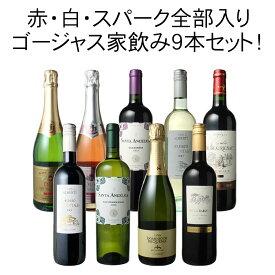 【送料無料】ワインセット ボルドーもカヴァも入ったゴージャス家飲み9本セット 赤ワイン 白ワイン スパークリング 全部入り お家で毎日ワイン三昧 第32弾