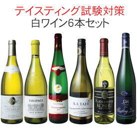 【送料無料】ワインセット ソムリエ&ワインエキスパート試験対策にもなる! 品種別 飲み比べ 6本 セット 白ワイン テイスティング 二次試験対策 第3弾