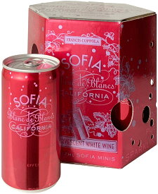 フランシス・コッポラ ソフィア ブラン・ド・ブラン ミニ カリフォルニア 187ml缶 4本セット NV <白> <ワイン/スパークリング>※通常サイズのワイン11本まで同梱可能