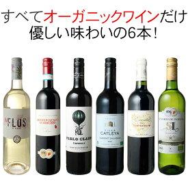 【送料無料】ワインセット オーガニック ワイン 6本 セット ユーロリーフ認定入 赤ワイン 白ワイン フランス イタリア スペイン 家飲み 御祝 誕生日 敬老の日 結婚祝い ギフト プレゼント 第21弾