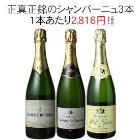 【送料無料】ワインセット シャンパン 3本 セット シャンパン製法 瓶内二次発酵 家飲み 御祝 誕生日 ハロウィン 結婚祝い ギフト プレゼント パーティー 第30弾